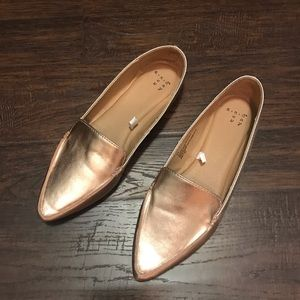 A New Day Micah Pointy Toe Rose Gold Loafers